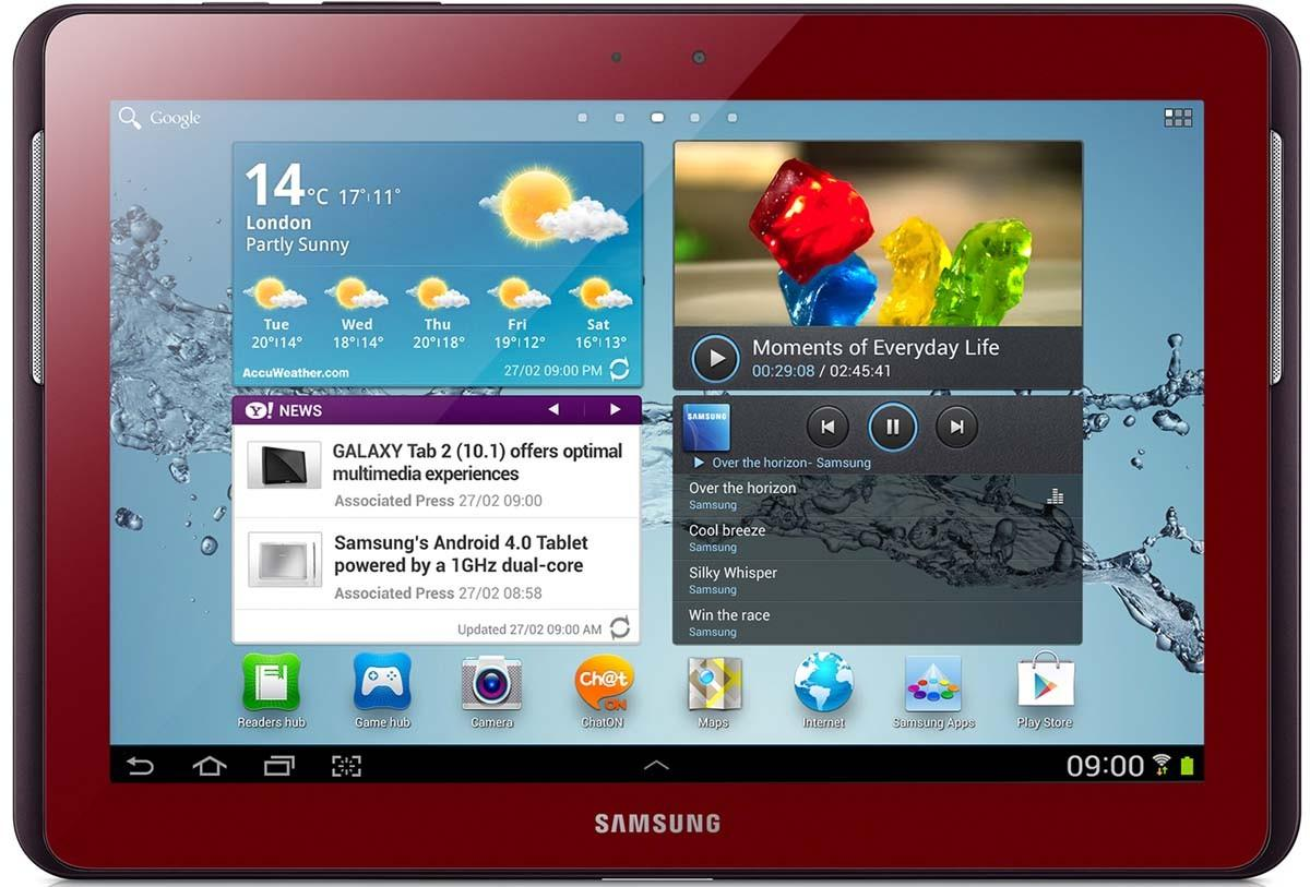 Samsung N8000 Galaxy Note 10.1 Wi-Fi/3G 16GB Garnet Red  420.00